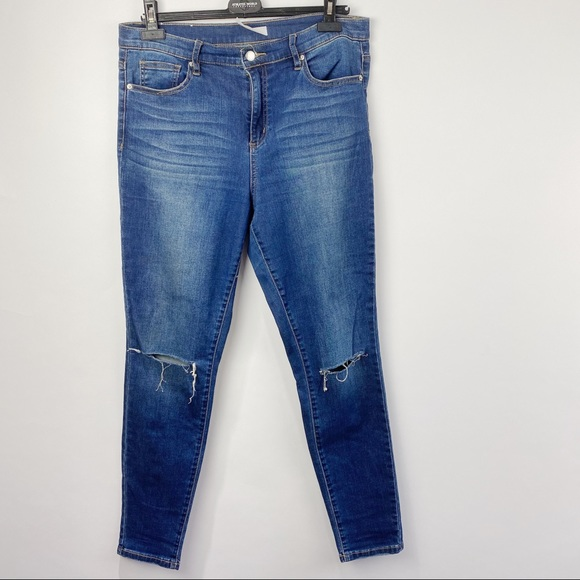 DYNDM blue high rise jeans